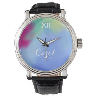 水彩画の一流の名前入りな柔らかさ 腕時計