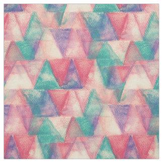 水彩画の三角形パターン + あなたのアイディア ファブリック