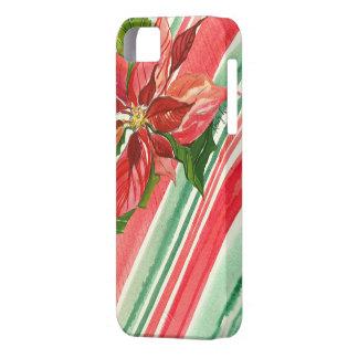 水彩画の休日のポインセチアのiPhone 5の場合 iPhone SE/5/5s ケース