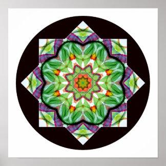 水彩画の効果Mandala.2ポスター ポスター