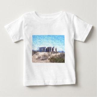 水彩画の古いAdobe ベビーTシャツ
