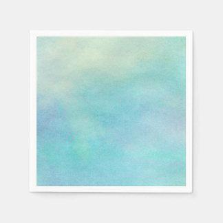 水彩画の多彩な海はすべての選択を影で覆います スタンダードカクテルナプキン