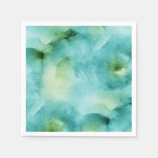 水彩画の多彩な海は(2)すべての選択を影で覆います スタンダードカクテルナプキン