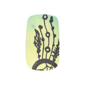 水彩画の夢のキャッチャーのネイル ネイルアート