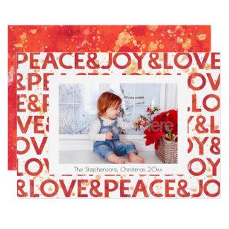 水彩画の平和クリスマスの休日の写真カード カード