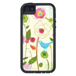水彩画の庭の花 iPhone SE/5/5s ケース