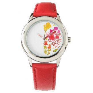 水彩画の庭の菓子のwatche 腕時計