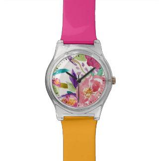 水彩画の庭 腕時計