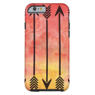 水彩画の日没の矢のiPhone 6カバー ケース