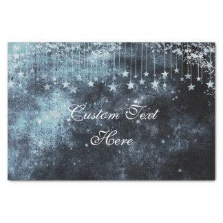 水彩画の星明かりの夜天のカスタムな結婚式 薄葉紙
