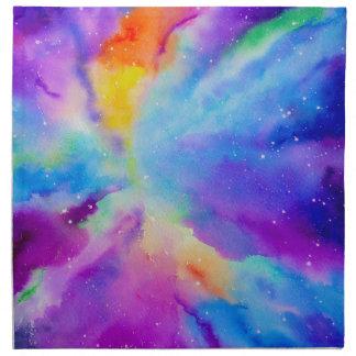水彩画の星雲 ナプキンクロス