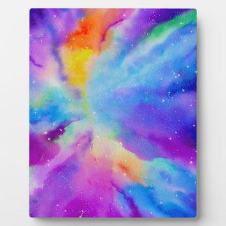 水彩画の星雲 フォトプラーク