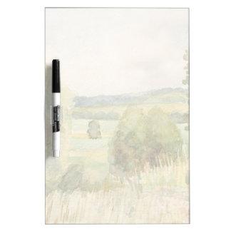 水彩画の景色 ホワイトボード