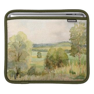 水彩画の景色 iPadスリーブ