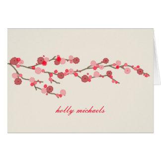 水彩画の桜名前入りなNotecards カード