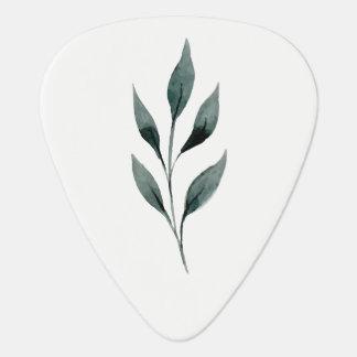 水彩画の植物の小枝 ギターピック