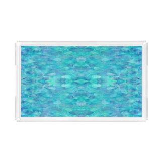 水彩画の水滴パターン虚栄心の皿 アクリルトレー