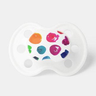 水彩画の水玉模様 おしゃぶり