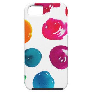 水彩画の水玉模様 iPhone SE/5/5s ケース