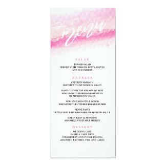 水彩画の洗浄結婚式夕食メニュー カード