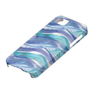 水彩画の海洋波のiPhoneの場合 iPhone SE/5/5s ケース