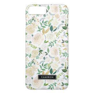 水彩画の淡い色のなシャクヤクのカスタムなiPhone 8のプラスの場合 iPhone 8 Plus/7 Plusケース
