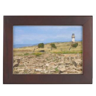 水彩画の灯台 ジュエリーボックス