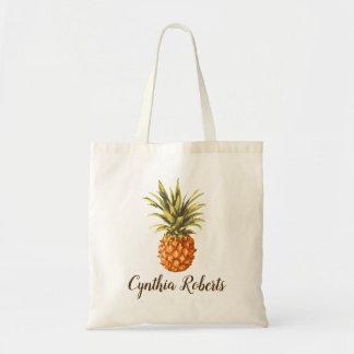 水彩画の熱帯パイナップル新婦付添人の好意 トートバッグ