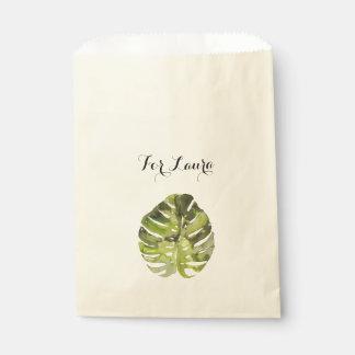 水彩画の熱帯葉の絵画 フェイバーバッグ