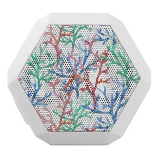 水彩画の珊瑚パターン ホワイトBluetoothスピーカー