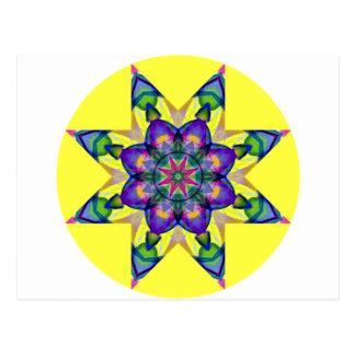 水彩画の目まぐるしい曼荼羅のデザイン4 ポストカード
