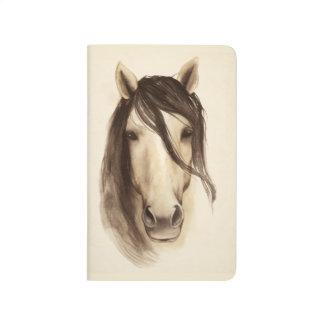 水彩画の納屋動物|の馬 ポケットジャーナル