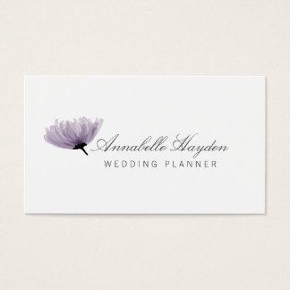 水彩画の紫色のウェディングプランナーの名刺 名刺