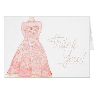 水彩画の結婚式のノートありがとう カード