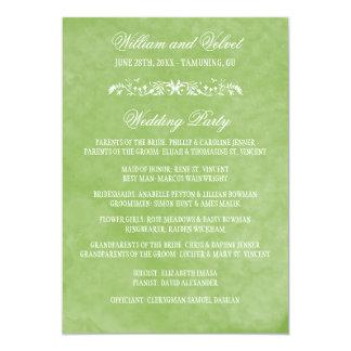 水彩画の結婚式プログラム 12.7 X 17.8 インビテーションカード
