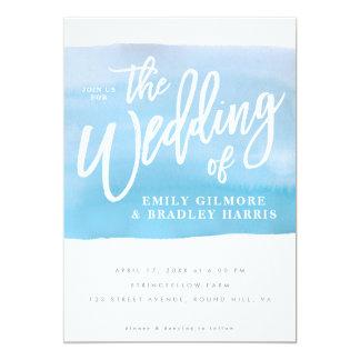 水彩画の結婚式招待状 12.7 X 17.8 インビテーションカード