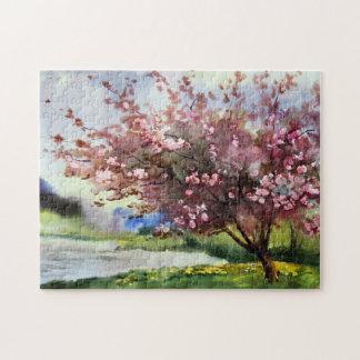 水彩画の絵画の景色 ジグソーパズル