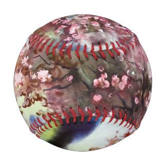 水彩画の絵画の景色 野球ボール