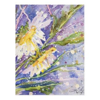 水彩画の絵画 ポストカード