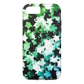 水彩画の緑のかわいいの星のShibuya夜 iPhone 8/7ケース