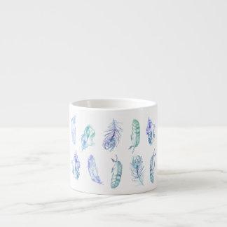 水彩画の羽のエスプレッソのマグ エスプレッソカップ