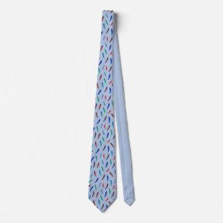 水彩画の羽のタイ ネクタイ