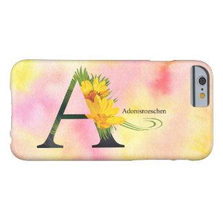 水彩画の背景との花のアルファベット BARELY THERE iPhone 6 ケース