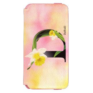 水彩画の背景との花のアルファベット INCIPIO WATSON™ iPhone 5 財布型ケース