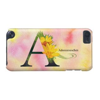 水彩画の背景との花のアルファベット iPod TOUCH 5G ケース