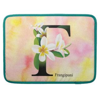 水彩画の背景との花のアルファベット MacBook PROスリーブ