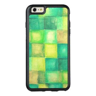 水彩画の背景の正方形 オッターボックスiPhone 6/6S PLUSケース