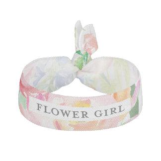 水彩画の花のフラワー・ガール ヘアタイ
