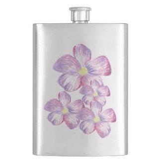 水彩画の花の芸術的なフラスコ フラスク