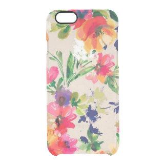 水彩画の花のiPhone6ケース、iPhone 6Sの場合 クリアiPhone 6/6Sケース